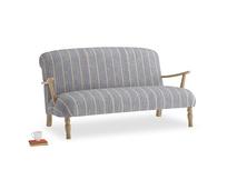 Medium Brew Sofa in Brittany Blue french stripe