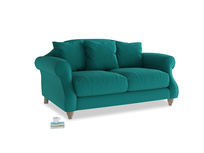 Small Sloucher Sofa in Indian green Brushed Cotton