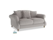 Small Sloucher Sofa in Mouse grey Clever Deep Velvet