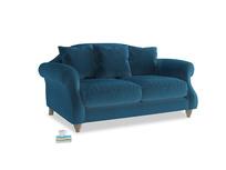 Small Sloucher Sofa in Twilight blue Clever Deep Velvet