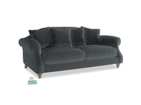 Medium Sloucher Sofa in Dark grey Clever Deep Velvet