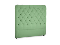 Double Tall Billow Headboard in Clean green Brushed Cotton