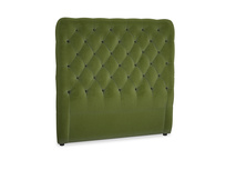 Double Tall Billow Headboard in Good green Clever Deep Velvet