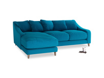 Large left hand Oscar Chaise Sofa in Bermuda Brushed Cotton