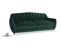 Large Butterbump Sofa in Dark green Clever Velvet