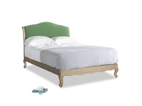 Double Coco Bed in Clean green Brushed Cotton
