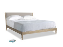 Superking Darcy Bed in Sailcloth grey Clever Woolly Fabric
