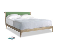 Superking Darcy Bed in Clean green Brushed Cotton