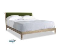 Superking Darcy Bed in Good green Clever Deep Velvet