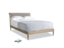 Double Darcy Bed in Mouse grey Clever Deep Velvet