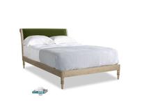 Double Darcy Bed in Good green Clever Deep Velvet