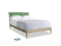 Double Darcy Bed in Clean green Brushed Cotton