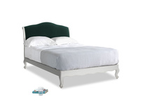 Double Coco Bed in Scuffed Grey in Dark green Clever Velvet