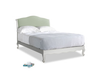 Double Coco Bed in Scuffed Grey in Powder green Clever Linen