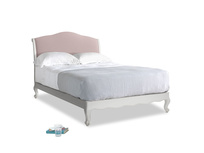 Double Coco Bed in Scuffed Grey in Potter's pink Clever Linen