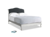 Double Coco Bed in Scuffed Grey in Dark grey Clever Deep Velvet