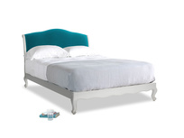 Kingsize Coco Bed in Scuffed Grey in Pacific Clever Velvet
