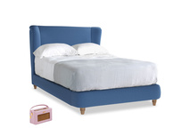 Double Hugger Bed in English blue Brushed Cotton