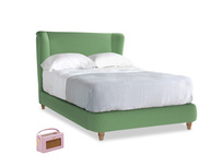 Double Hugger Bed in Clean green Brushed Cotton