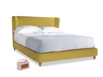 Kingsize Hugger Bed in Maize yellow Brushed Cotton
