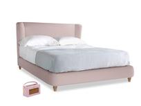 Kingsize Hugger Bed in Potter's pink Clever Linen
