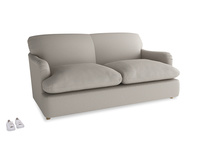 Medium Pudding Sofa Bed in Sailcloth grey Clever Woolly Fabric