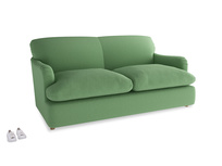 Medium Pudding Sofa Bed in Clean green Brushed Cotton