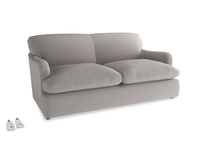 Medium Pudding Sofa Bed in Mouse grey Clever Deep Velvet