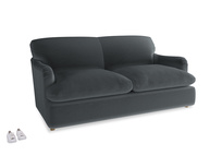 Medium Pudding Sofa Bed in Dark grey Clever Deep Velvet