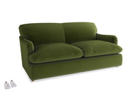 Medium Pudding Sofa Bed in Good green Clever Deep Velvet