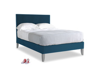 Double Piper Bed in Twilight blue Clever Deep Velvet