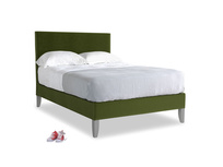 Double Piper Bed in Good green Clever Deep Velvet