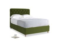 Double Billow Bed in Good green Clever Deep Velvet