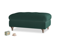 Rectangle Jammy Dodger Footstool in Dark green Clever Velvet