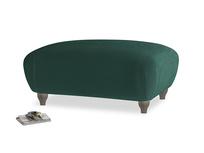 Rectangle Homebody Footstool in Dark green Clever Velvet