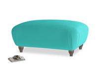 Rectangle Homebody Footstool in Fiji Clever Velvet