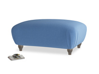 Rectangle Homebody Footstool in English blue Brushed Cotton