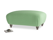 Rectangle Homebody Footstool in Clean green Brushed Cotton