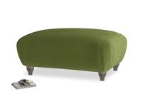 Rectangle Homebody Footstool in Good green Clever Deep Velvet