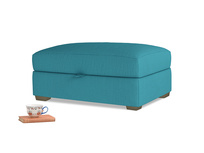 Bumper Storage Footstool in Dragonfly Clever Linen