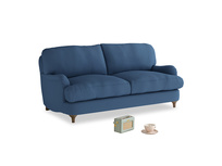 Small Jonesy Sofa in True blue Clever Linen