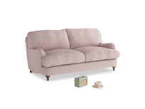 Small Jonesy Sofa in Potter's pink Clever Linen