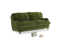 Small Jonesy Sofa in Good green Clever Deep Velvet