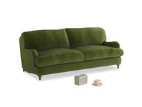 Medium Jonesy Sofa in Good green Clever Deep Velvet