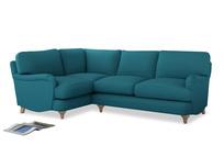 Large Left Hand Jonesy Corner Sofa in Dragonfly Clever Linen