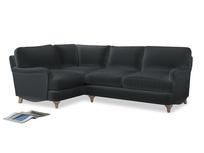 Large Left Hand Jonesy Corner Sofa in Dark grey Clever Deep Velvet