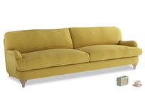 Extra large Jonesy Sofa in Maize yellow Brushed Cotton