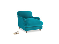 Pudding Armchair in Pacific Clever Velvet