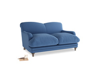 Small Pudding Sofa in English blue Brushed Cotton
