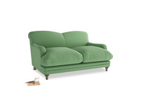 Small Pudding Sofa in Clean green Brushed Cotton